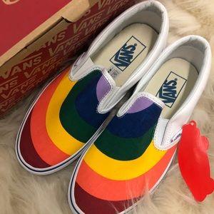 Rainbow VANS SlipOns 🌈